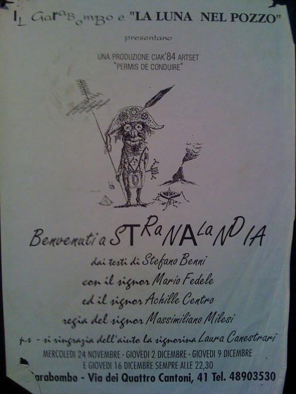 Autunno 1993 : Spettacolo al Garabombo