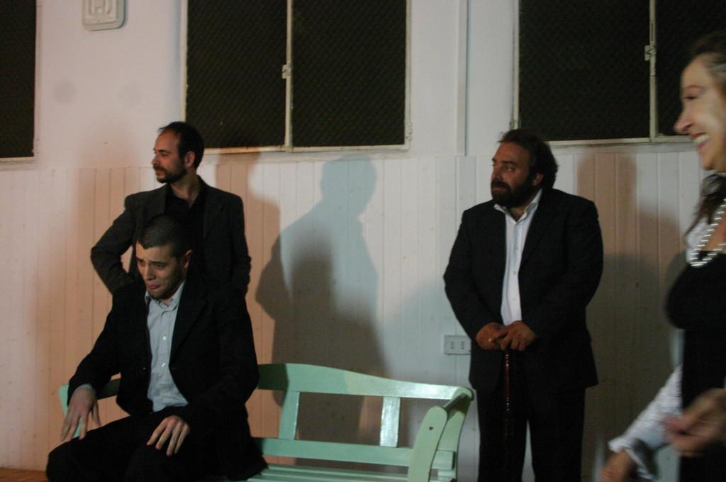 """Maggio 2009 - Backstage """"IL GIARDINO DEI CILIEGI"""" nella Sala Prove di Ciak'84 : Stefano Augeri,Fabio Margiotta, Andrea Cotrone"""
