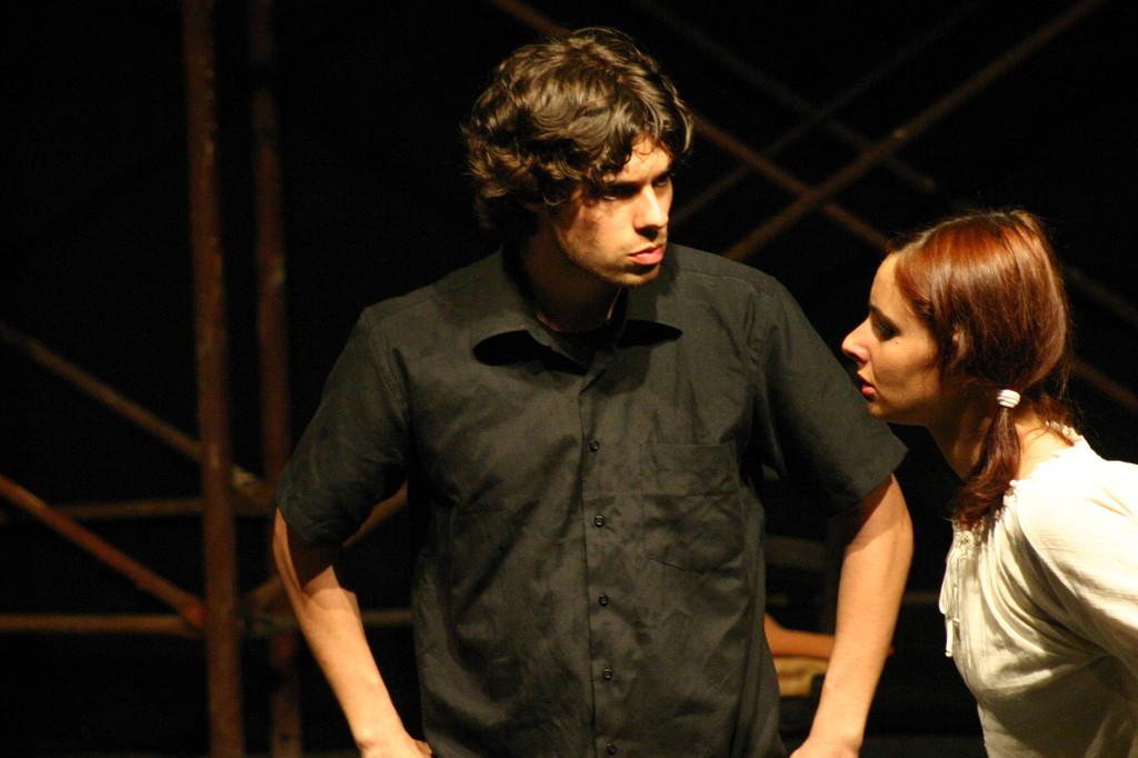 """Maggio 2007 - Teatro del Parco Tiburtino """"El Abanico""""(""""Il Ventaglio"""") :Mattia Moretti e Ilenia Cerioni"""