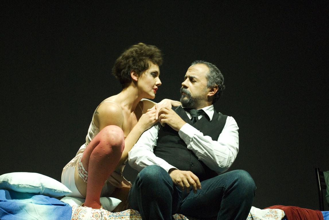 """Ottobre 2007 - """"Freddo Come la Notte"""" al Teatro del Parco Tiburtino: Manuela Di Salvia, Massimiliano Milesi"""