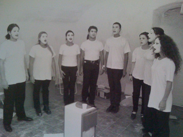 Luglio 1996 - Performance finale , all'Estate Romana in Piazza Campo de Fiori, il TRAINING