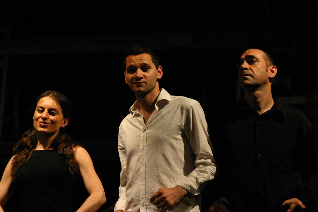 """Maggio 2007 - Teatro del Parco Tiburtino """"El Abanico""""(""""Il Ventaglio"""") :Claudia Amendola, Giovanni Piccolo, Daniele Amenta"""