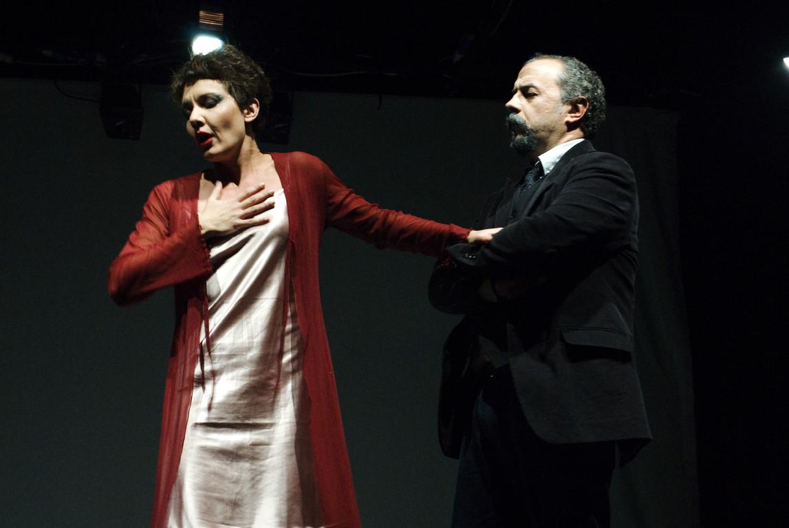 """Ottobre 2007 - """"Freddo Come la Notte"""" al Teatro del Parco Tiburtino: Manuela Di Salvia e Massimiliano Milesi"""