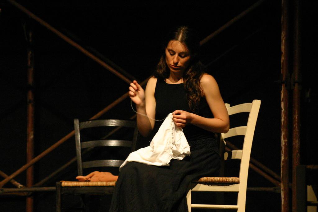 """Maggio 2007 - Teatro del Parco Tiburtino """"El Abanico""""(""""Il Ventaglio"""") : Claudia Amendola"""