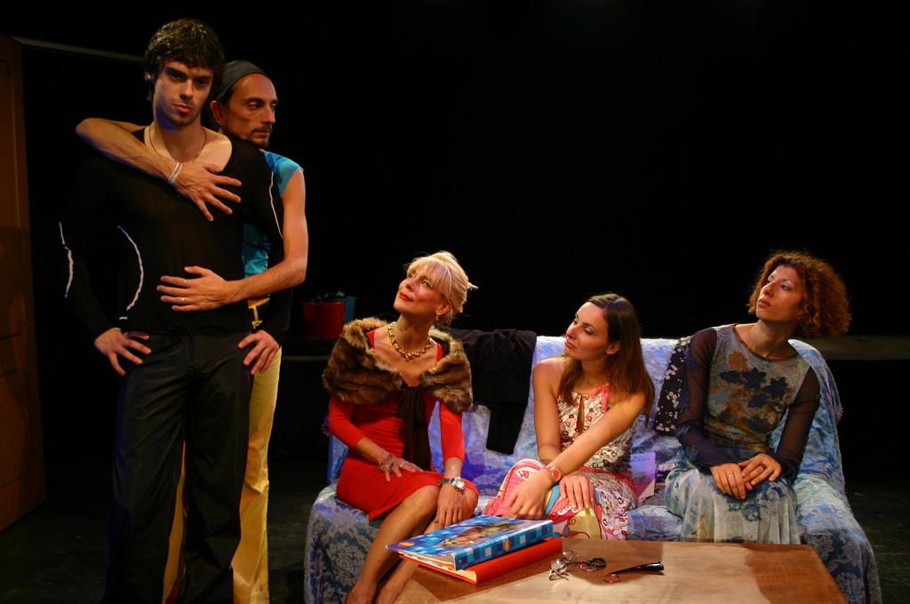"""Ottobre 2006 - """"My Fair Boy"""" al Teatro del Parco Tiburtino:Mattia Moretti, Gianni Licata, Lucilla Landi, Ilenia Cerioni, Luisa Noli"""