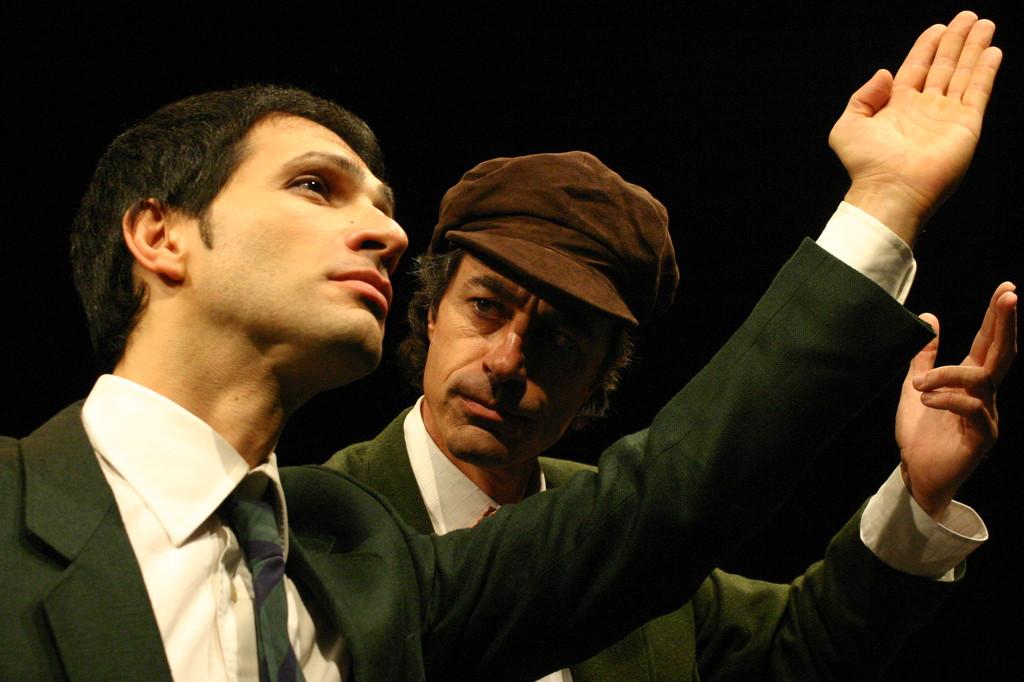 """Dicembre 2005 - """"Le Smanie per la Villeggiatura""""  al Teatro del Parco Tiburtino : Gianfranco Fuggetta e Giorgio Corcos"""