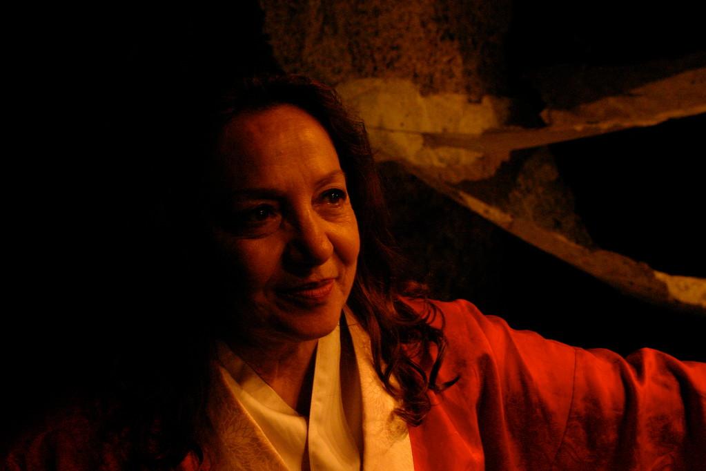Carla Aversa è Rokujo in AOI di Takeshi Kawamura. Teatro Agorà Maggio 2010, Regia di Massimiliano Milesi