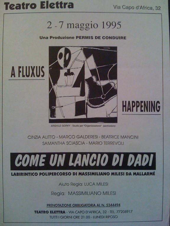 Primavera 1995 : lo spettacolo al Teatro Elettra su Mallarmè