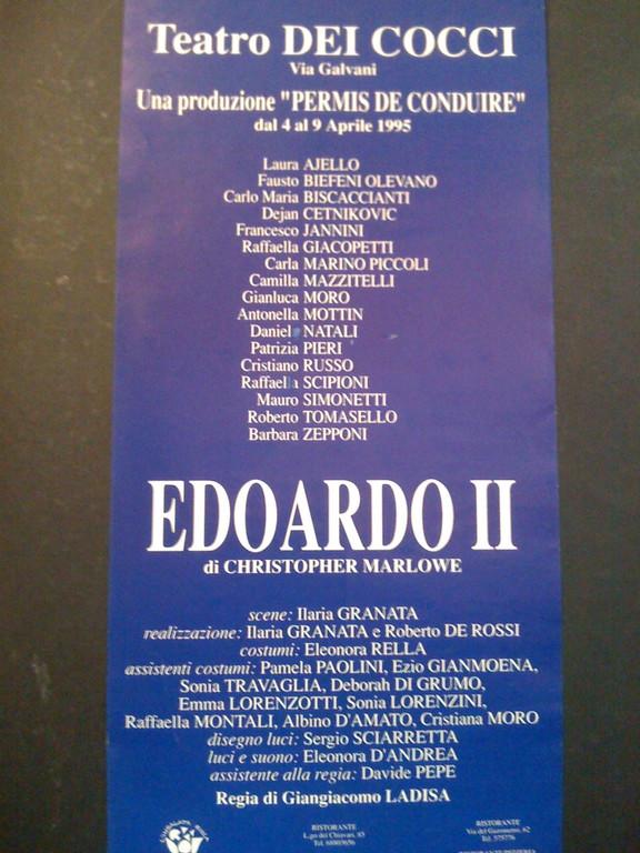 1995 - Va in Scena il Progetto su Marlowe
