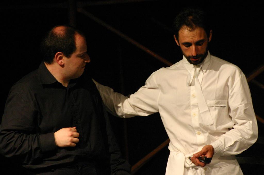 """Maggio 2007 - Teatro del Parco Tiburtino """"El Abanico""""(""""Il Ventaglio"""") : Stefano Capecchi e Luca Marengo"""