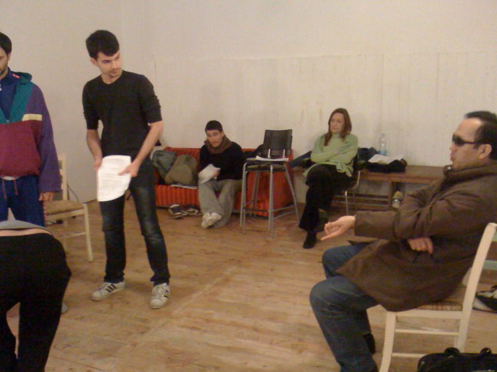 Prove con il Maestro Umewaka , Sala Ciak84. Marzo 2010