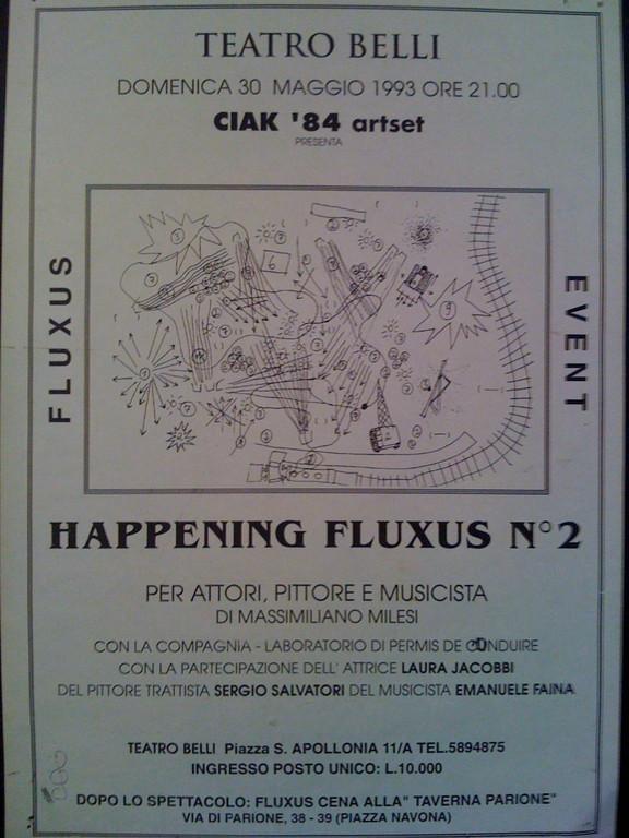 Happening Fluxus al Teatro Belli