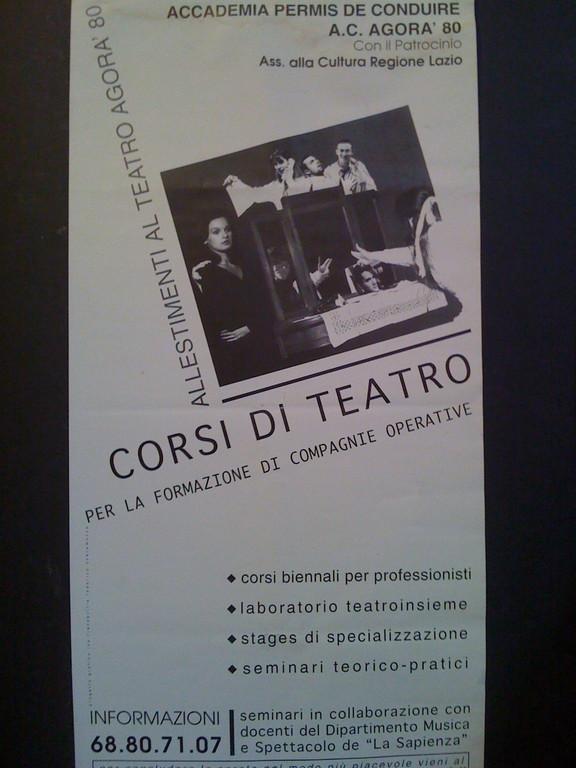 Autunno 1995 : prima Stagione al Teatro AGORA'