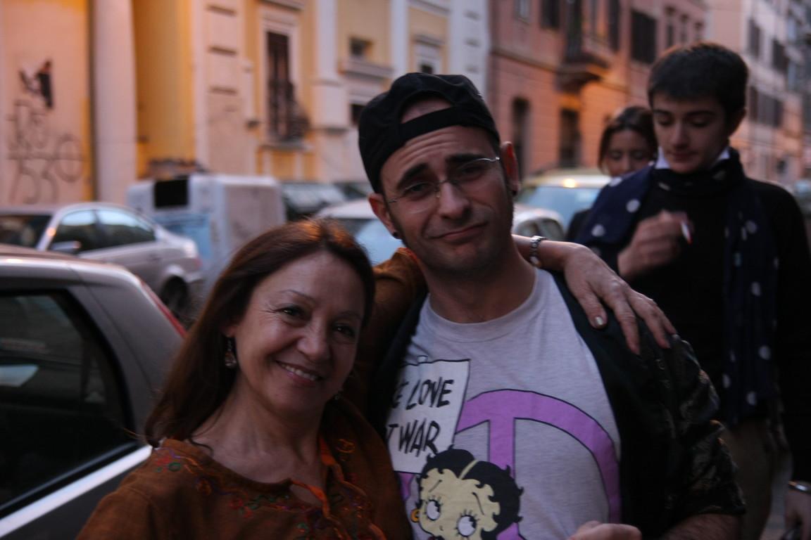"""Febbraio 2009-  """"Tuo Affezionatissimo Cechov""""  Prove al Teatro Elettra : Carla Aversa e Stefano Augeri"""