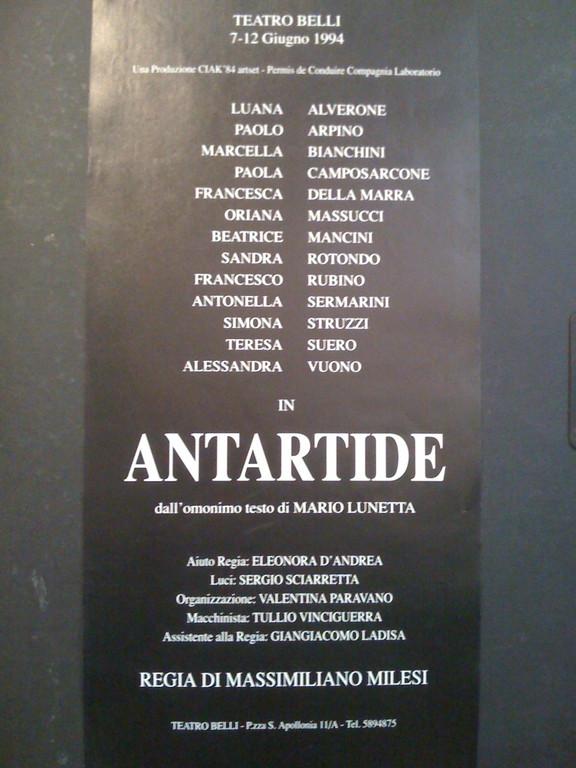 Giugno 1994 - Teatro di Poesia da testi di Mario Lunetta