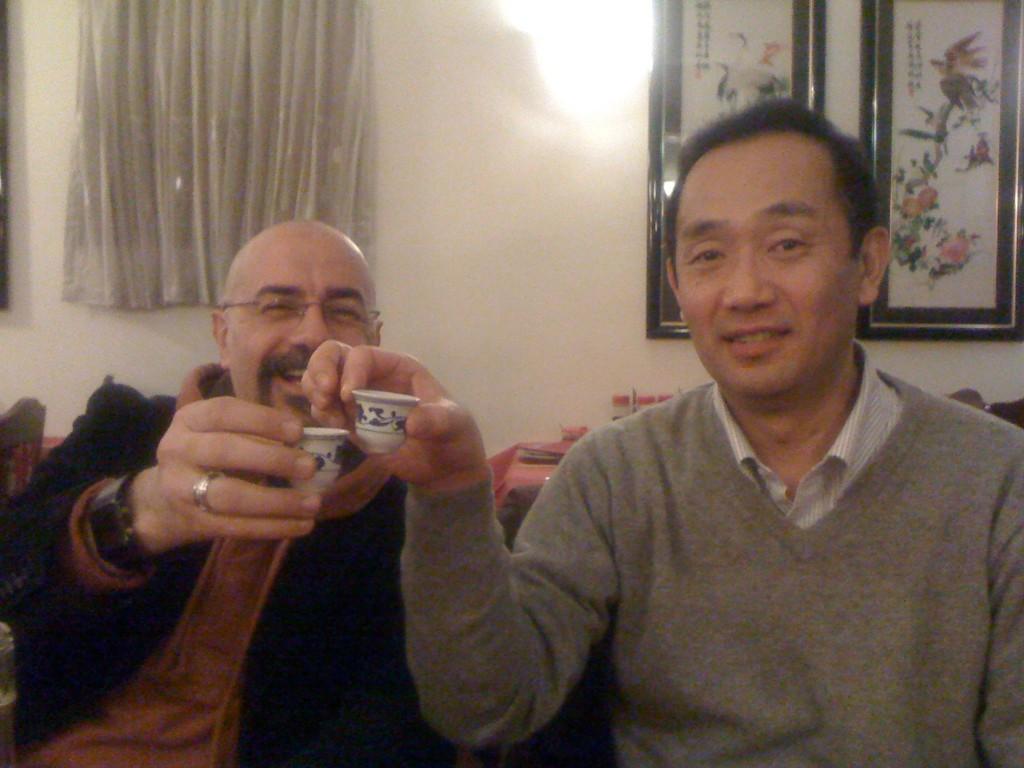 Brindisi con il Maestro Umewaka al Ristorante CiLin.Marzo 2010