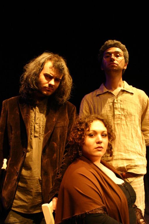 """Giugno 2008 - Teatro del Parco Tiburtino """"Cechov 1 e 1/2 """" : Marco Cappelli, Ilaria Balestrieri e Giuseppe Messina"""