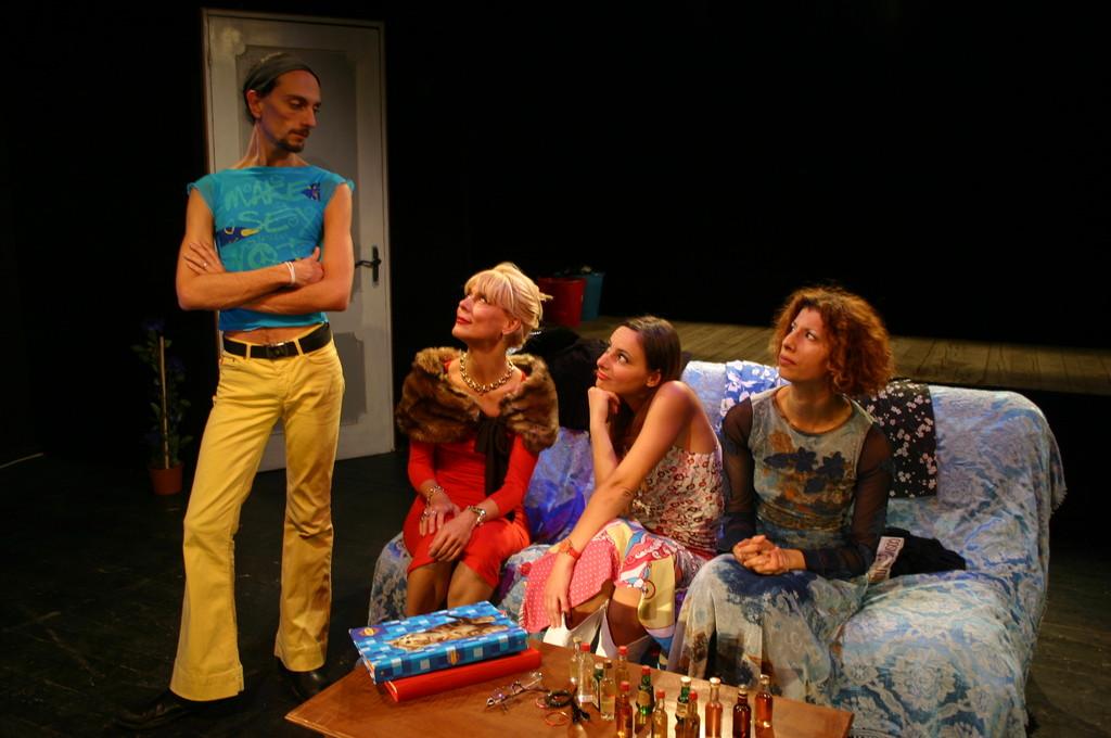 """Ottobre 2006 - """"My Fair Boy"""" al Teatro del Parco Tiburtino:Gianni Licata,Lucilla Landi,Ilenia Cerioni e Luisa Noli"""