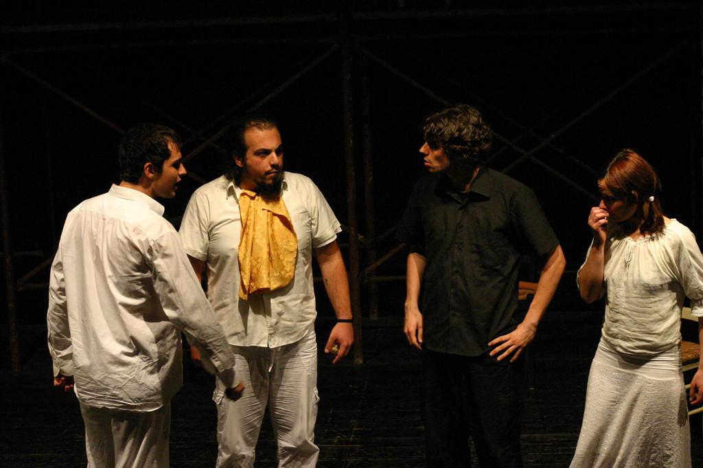 """Maggio 2007 - Teatro del Parco Tiburtino """"El Abanico""""(""""Il Ventaglio"""") :Andrea Ricciardi, Luca Palminteri,Mattia Moretti,Ilenia Cerioni"""