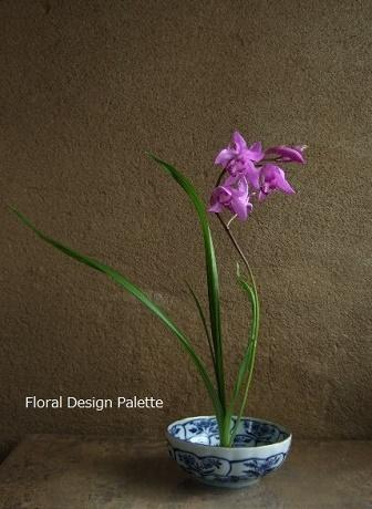 紫蘭の花あしらい