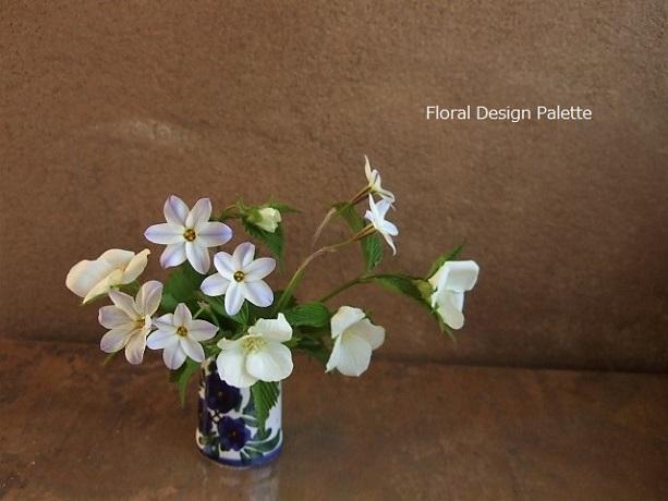 花ニラと白山吹のフラワーデザイン Ⅱ