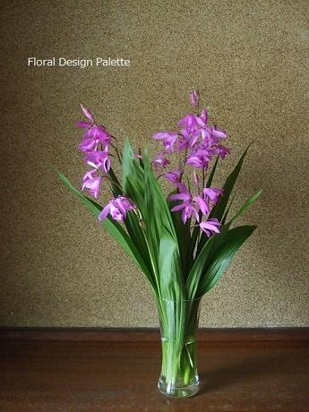 紫蘭をナチュラルに花あしらい