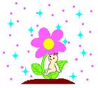 花と赤ちゃん ハッピー