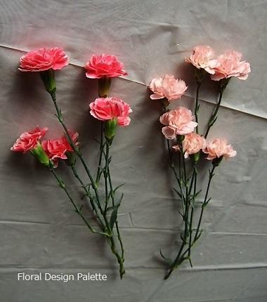 濃いピンク5輪&淡いピンク6輪