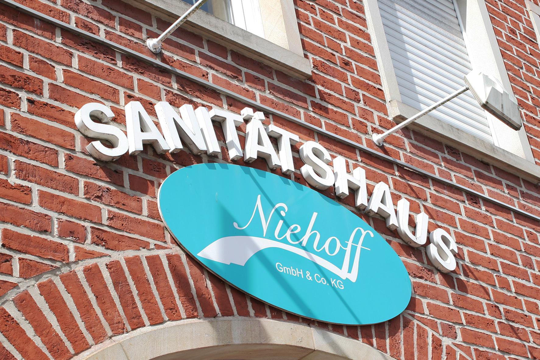 Sanitätshaus Niehoff, Eingangsbereich, Frontal