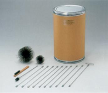 【煙突ブラシセット 3kg/5kg/10kg用】簡単に煙突内の掃除が出来るセット。これさえあれば掃除が簡単です。