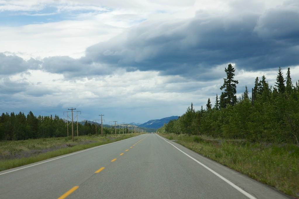 Auf dem Highway.