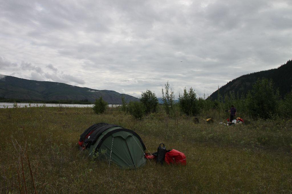 Das Camp am 5. Juli, gute Nacht!