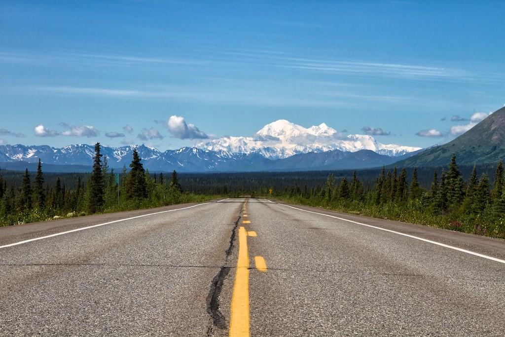 Mt. Denali, fast ohne Wolken.