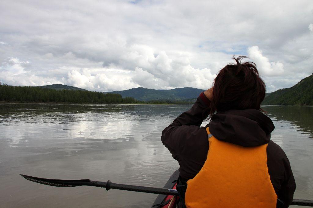 Ich kann Dawson City schon sehen. Noch eine Kurve bis zum Ziel!