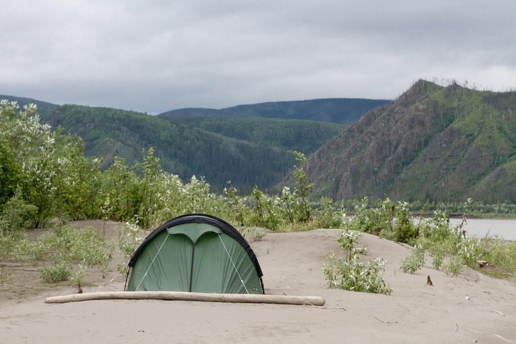 Camp am Abend