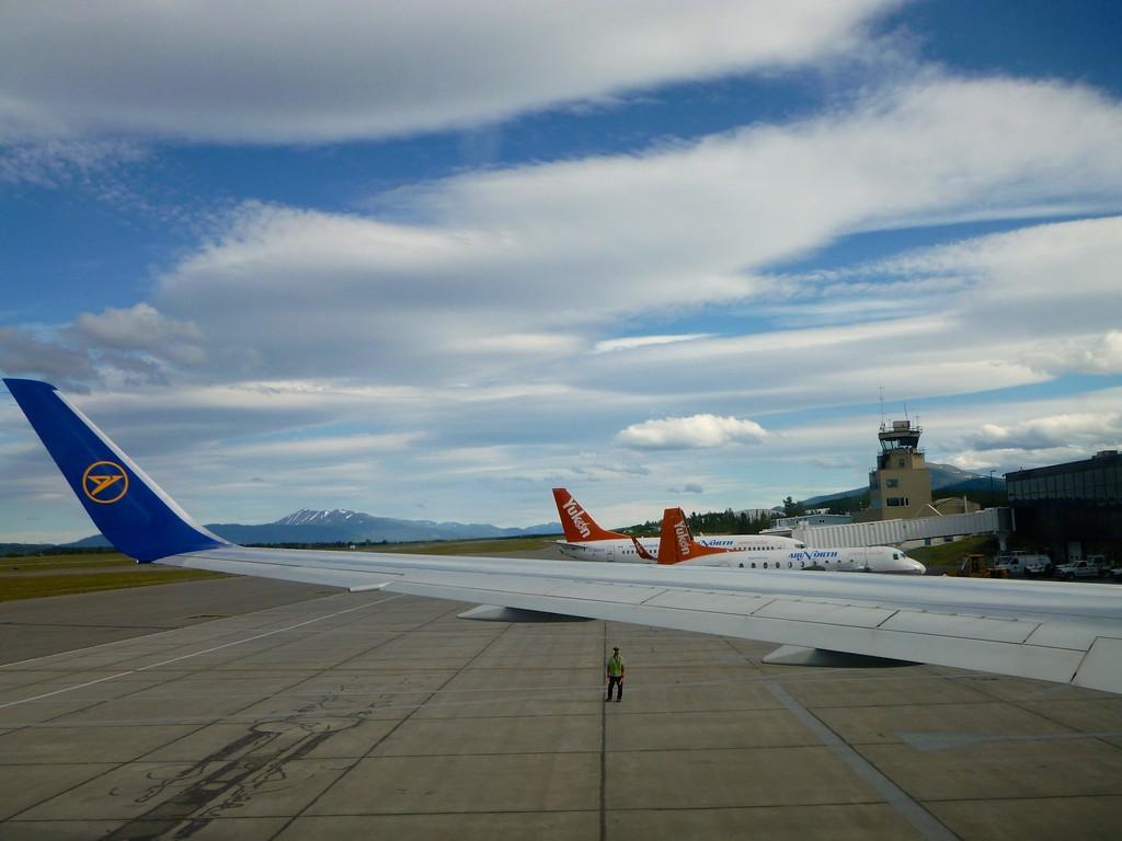 ... der letzte Blick auf den Flughafen ...