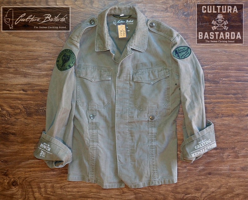 Jacket, moleskin, cultura bastarda, cafe racer, army, german, motorcycle, caferacer, green, moto,