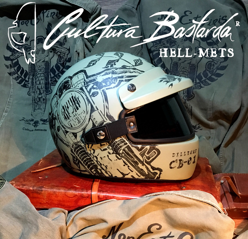 Casco, cafe racer, helmet, triumph, scrambler, nexx, hand made, custom, integral, motorcycle, army, green, cultura bastarda, hell-mets