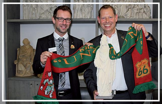 Dombaumeister Peter Füssenich und Präsident und 1. Vorsitzender Udo Beyers