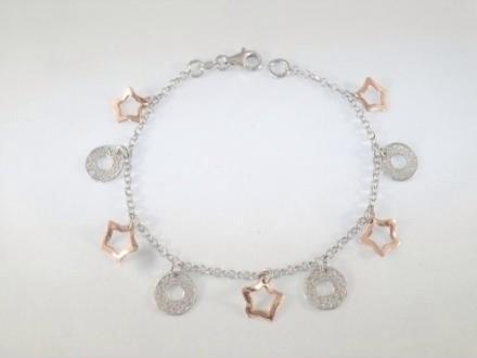 Bracciale argento con charms da ragazza