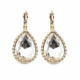 Orecchini monachella argento cristallo di rocca e zirconi