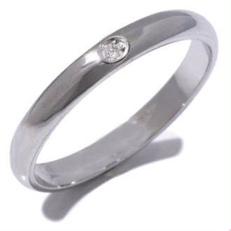 Fedina argento satinata con zircone
