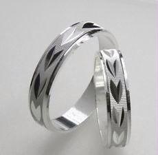 Fedine argento lavorate