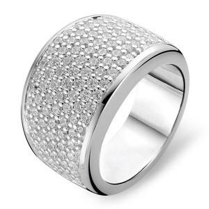 Anello in argento fascia di zirconi