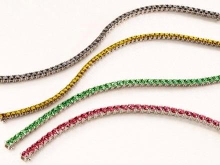 Bracciale tennis argento zirconi colorati
