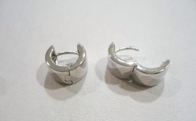 Orecchini scattino lisci argento