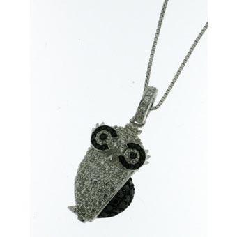 Collana argento gufo zirconi