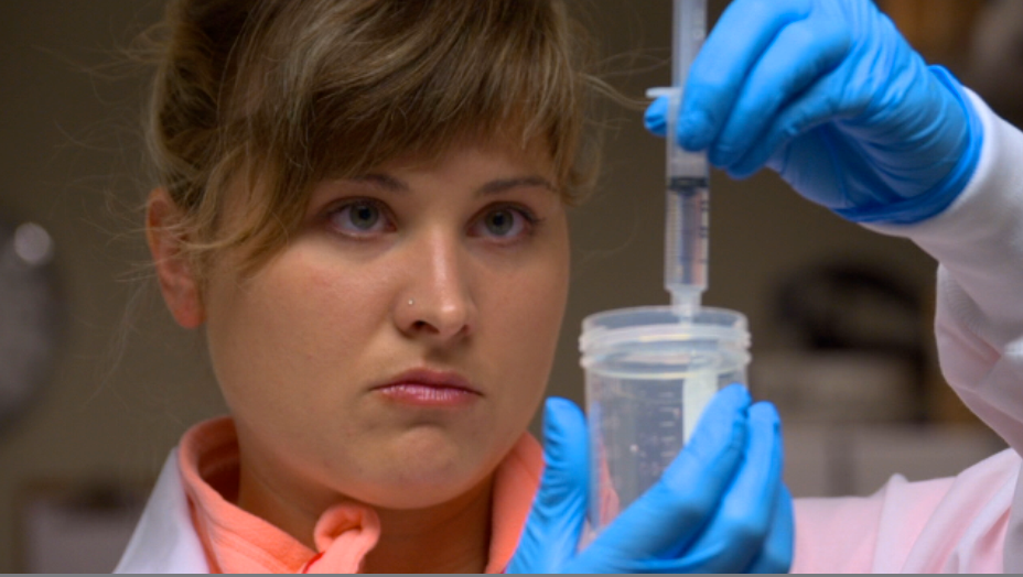 TSBC laboratory technician Lindsay LaMere.  ©2013 First Pictures.  All rights reserved.