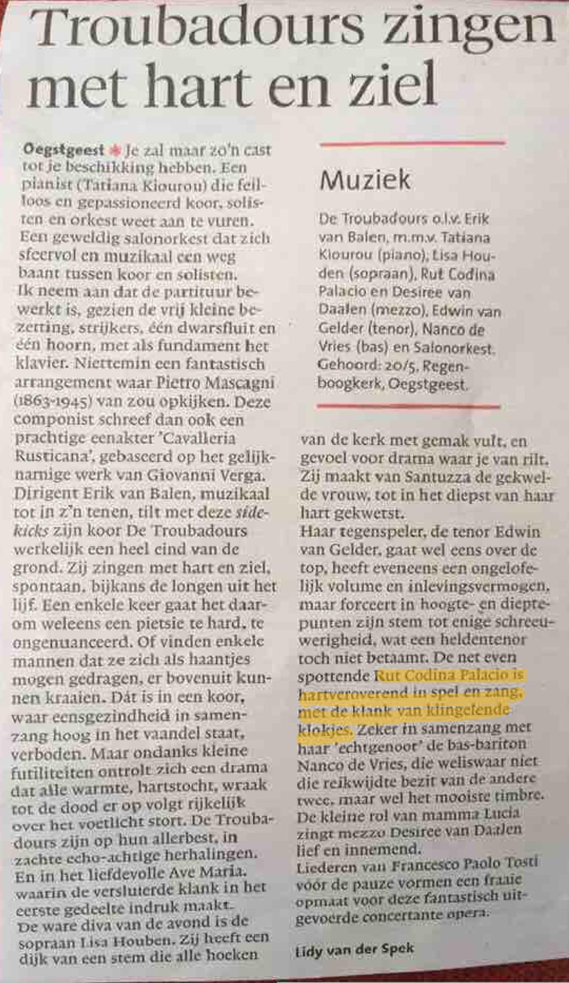 Leidsche Dagblad 26/05/2016