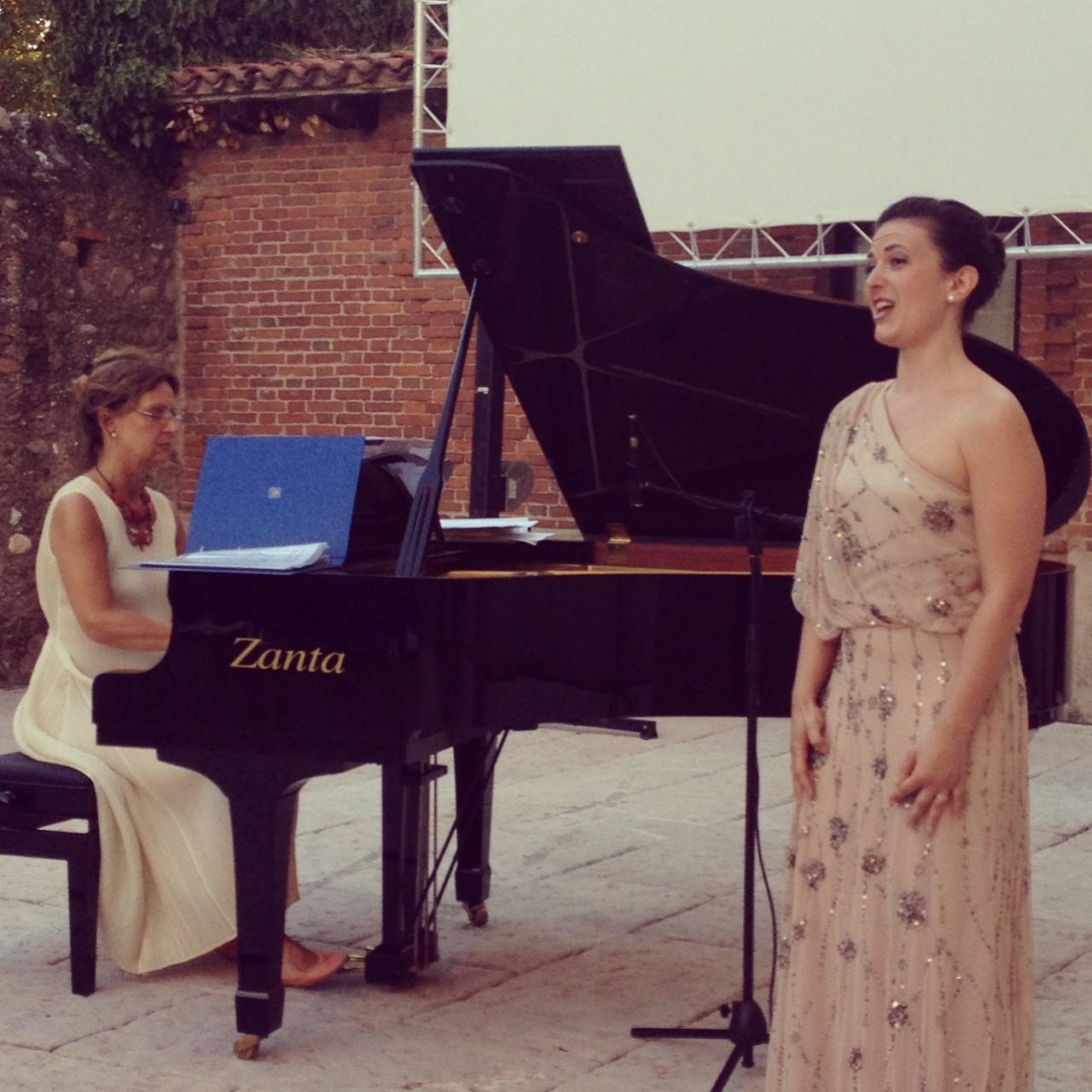 with Nicoletta Olivieri, piano ( Valeggio sul Mincio, Italy )